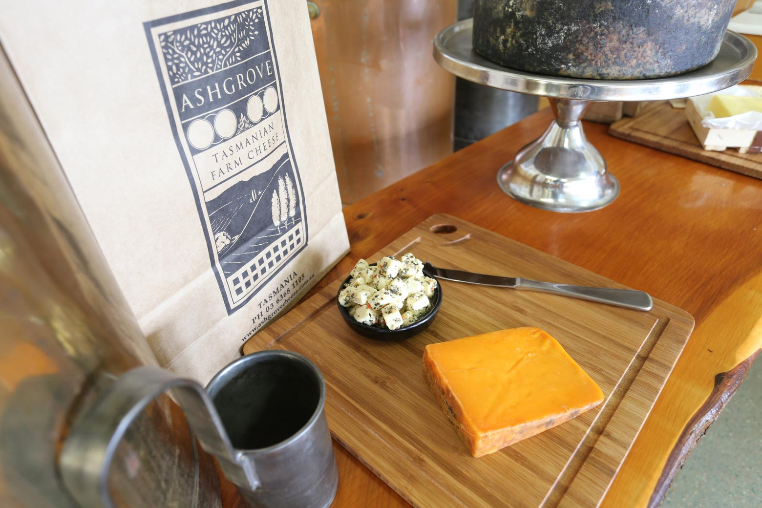 Taste Ashgrove Cheese on your Lap of Tasmania road trip