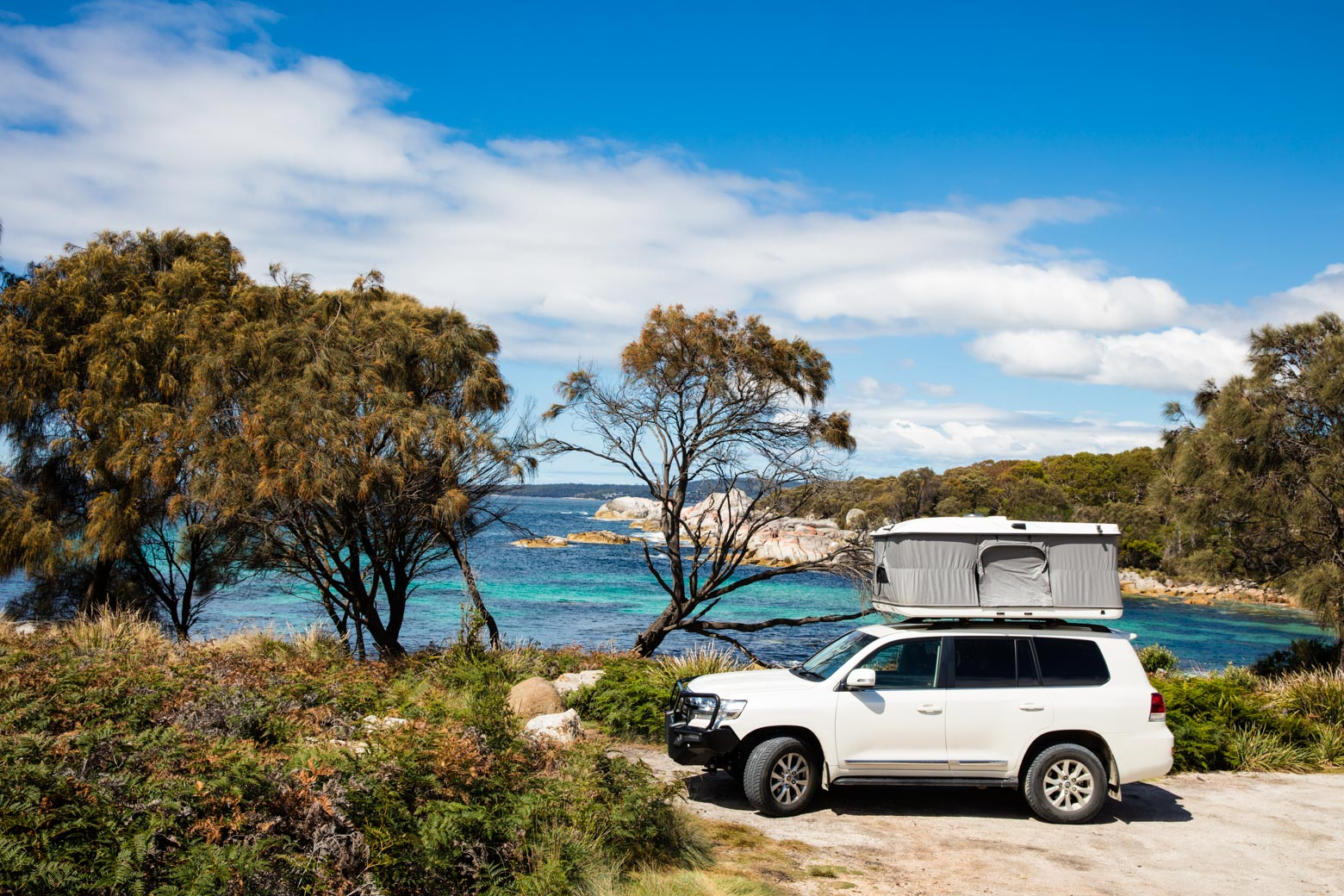 Go Camping at Bay of Fires on your Lap of Tasmania road trip