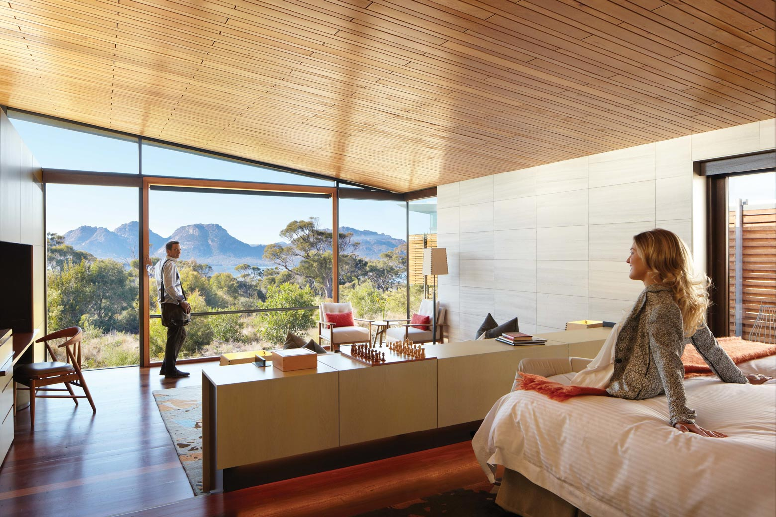 Experience luxury at Supplied Courtesy of Saffire Freycinet on your Lap of Tasmania road trip