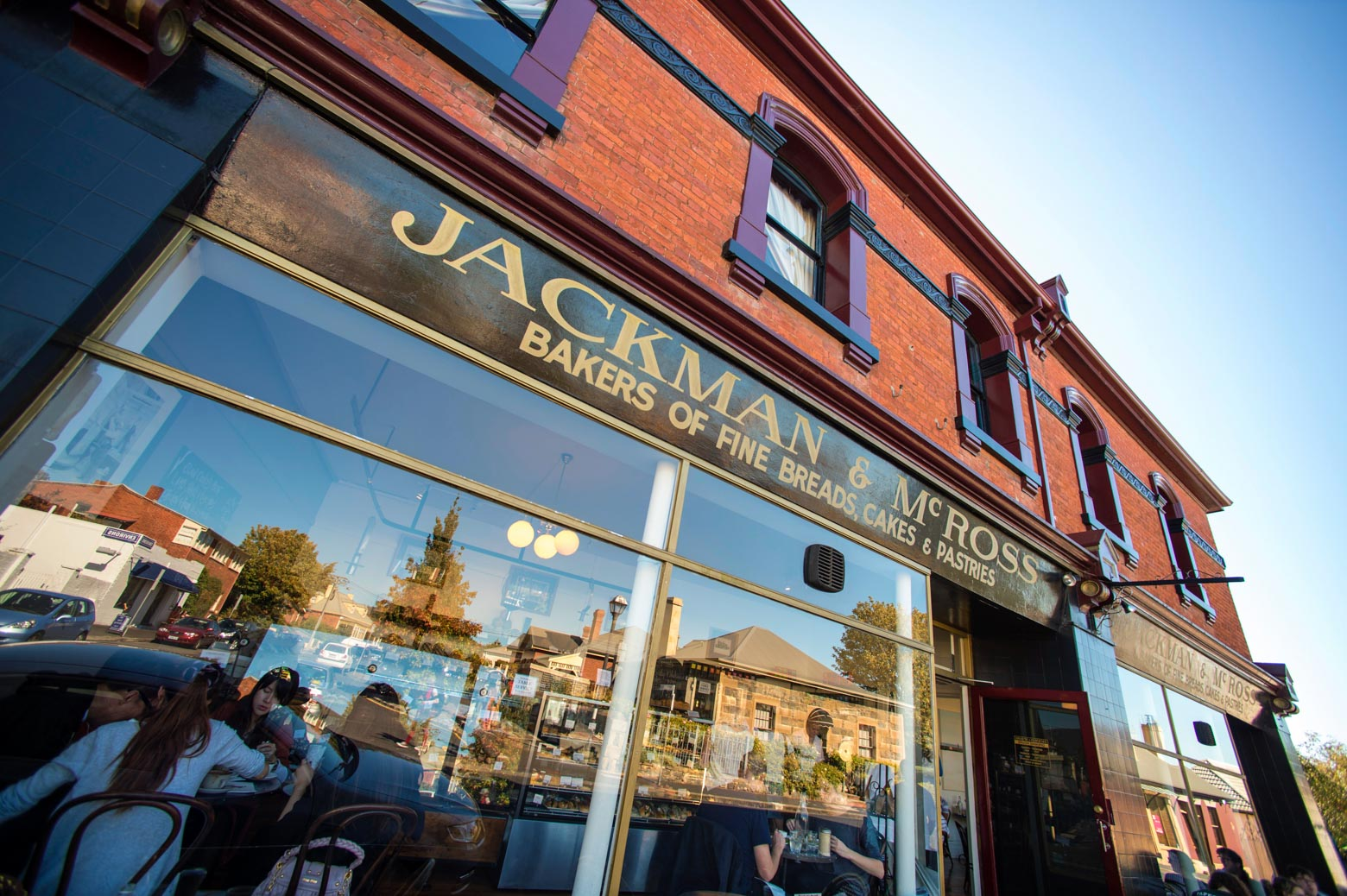 Enjoy a light meal at Jackman & McRoss Bakery on your Lap of Tasmania road trip