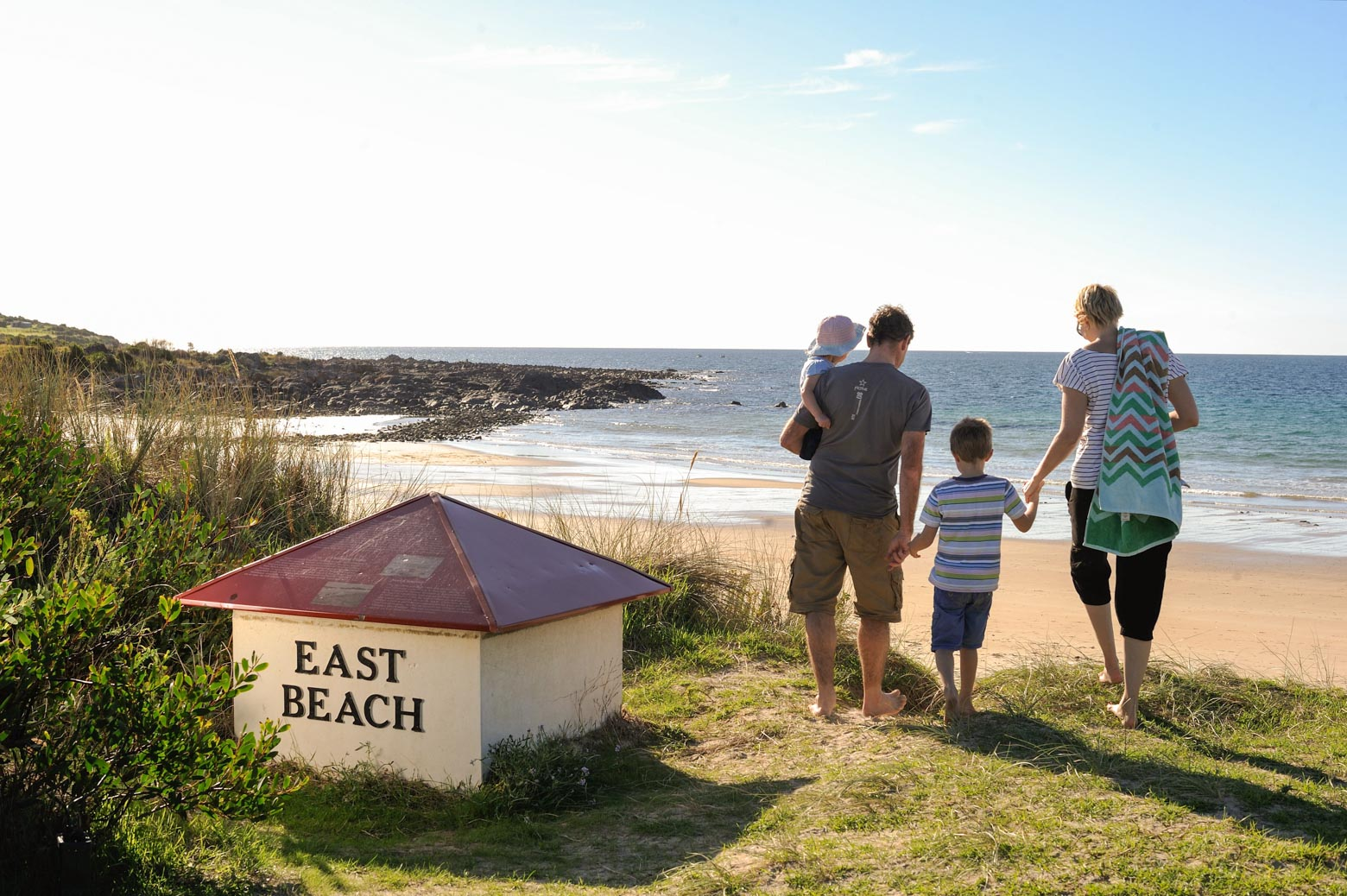 Stay at East Beach at Low Head on your Lap of Tasmania road trip