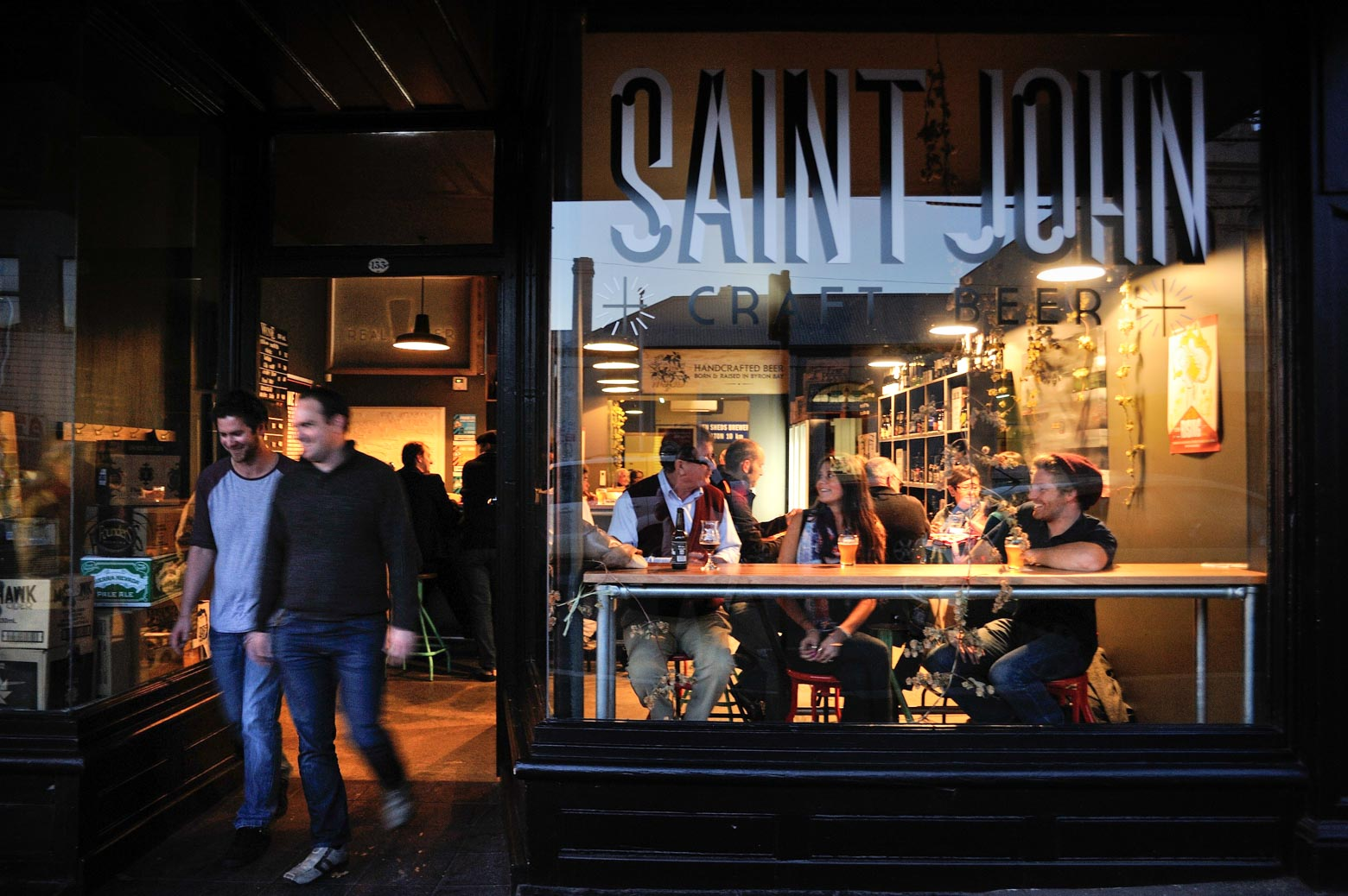 Stop for a drink at Saint John Craft Beer on your Lap of Tasmania road trip