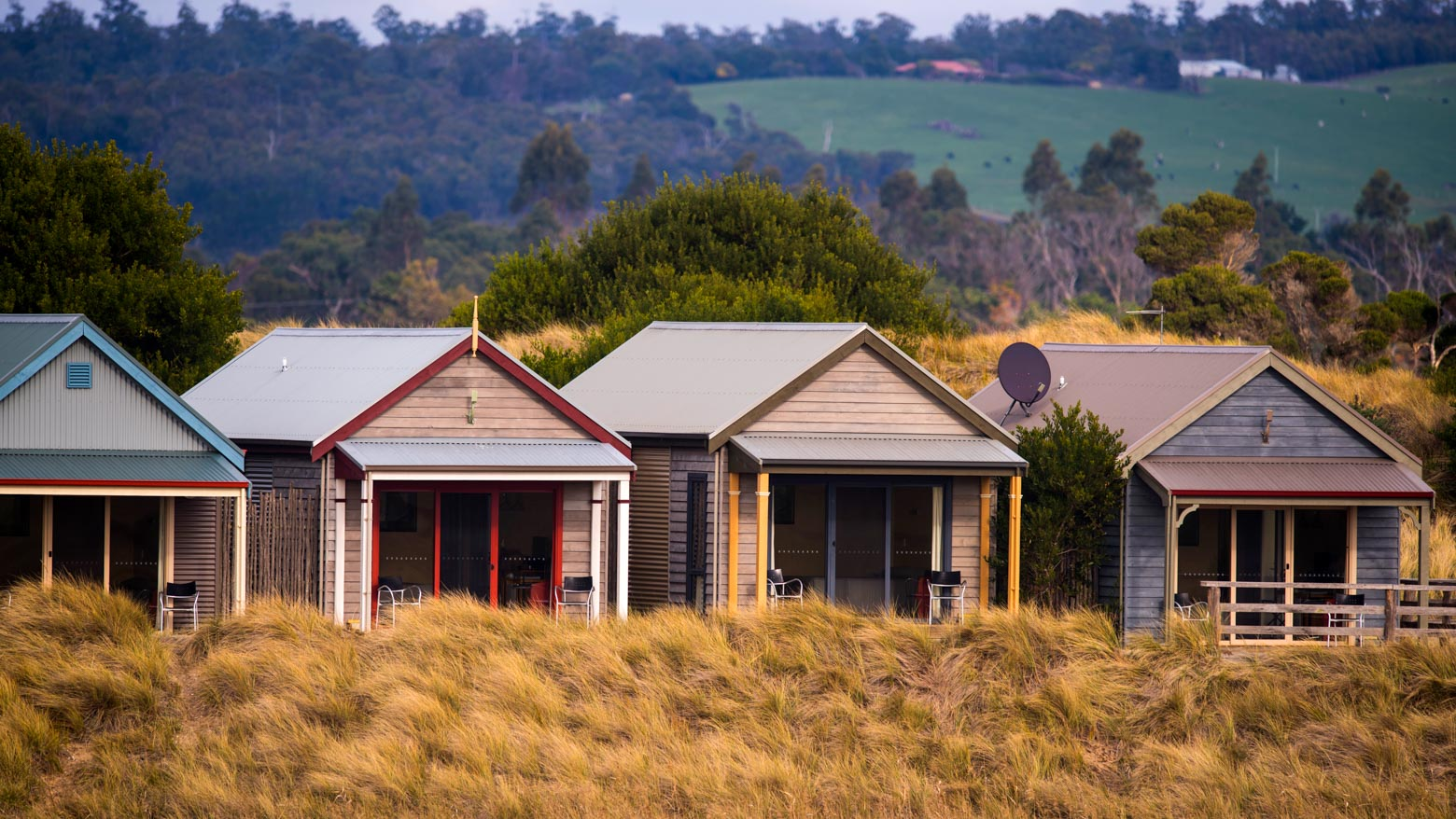 Stay at Barnbougle Cottages on your Lap of Tasmania road trip
