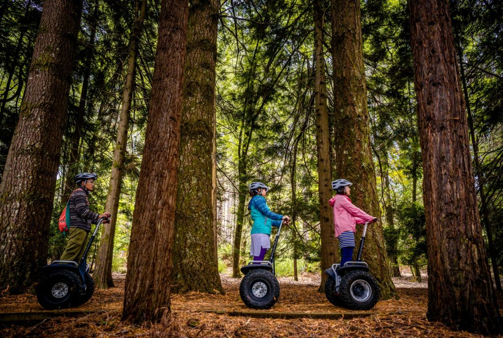 Have fun on Segways at Hollybank Wilderness Adventure on your Lap of Tasmania road trip
