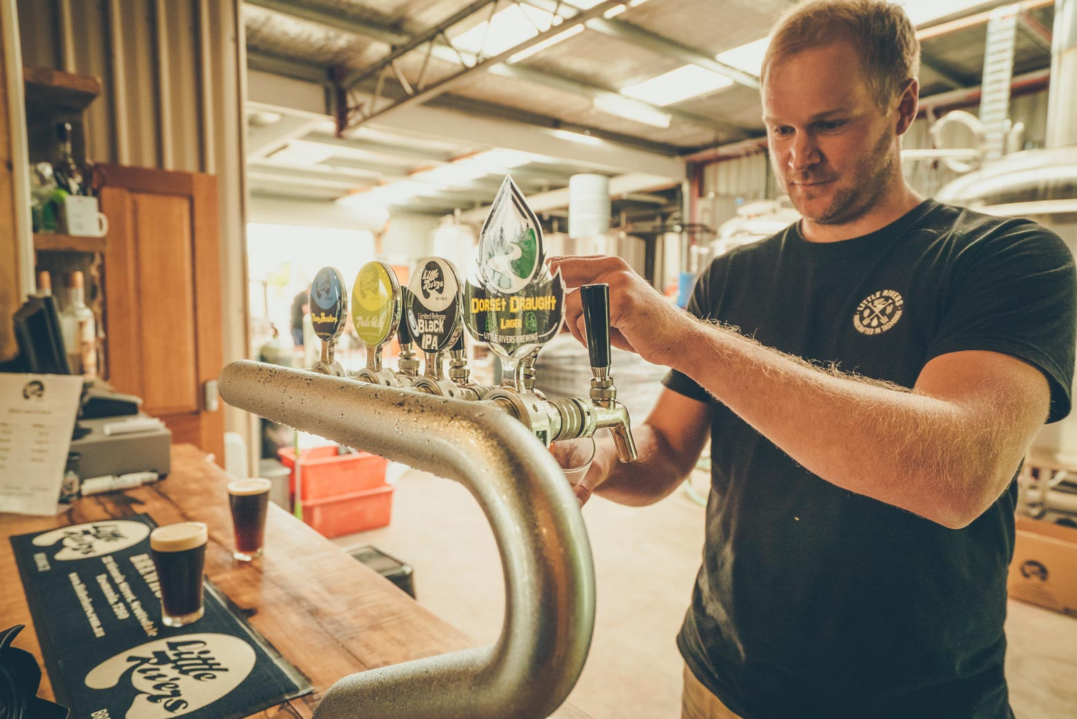 Try the beers at Little Rivers Brewing Co. on your Lap of Tasmania road trip