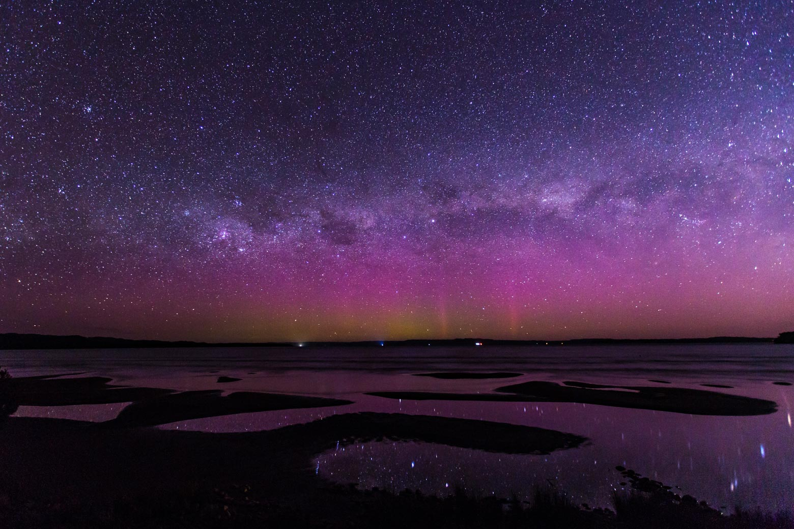 Aurora Australis from Strahan - Lap of Tasmania road trip