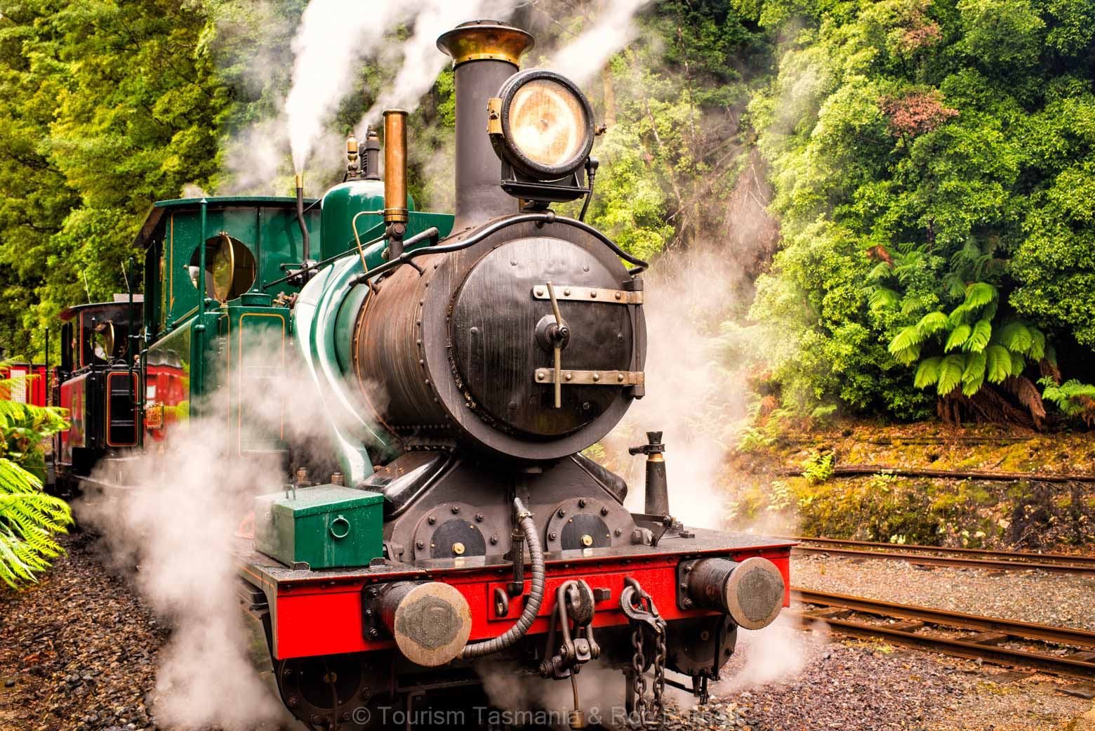 See the West Coast Wilderness Railway on your Lap of Tasmania Road Trip