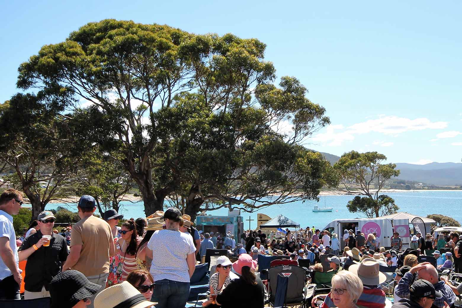 Experience the Bicheno Food and Wine Festival on the East Coast of Tasmania on your Lap of Tasmania road trip.