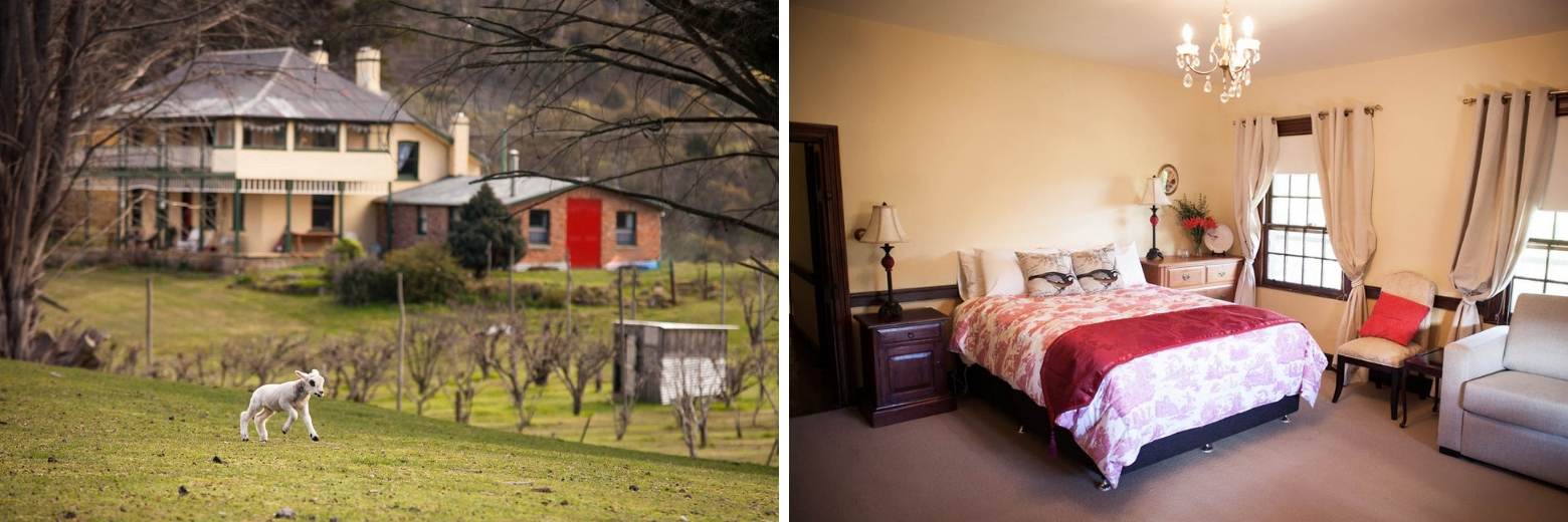Stanton Farmhouse in the Derwent Valley is the perfect Derwent Valley accommodation on your Lap of Tasmania road trip