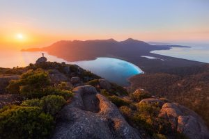 Sunrise at Wineglass Bay - Tasmania Road Trip