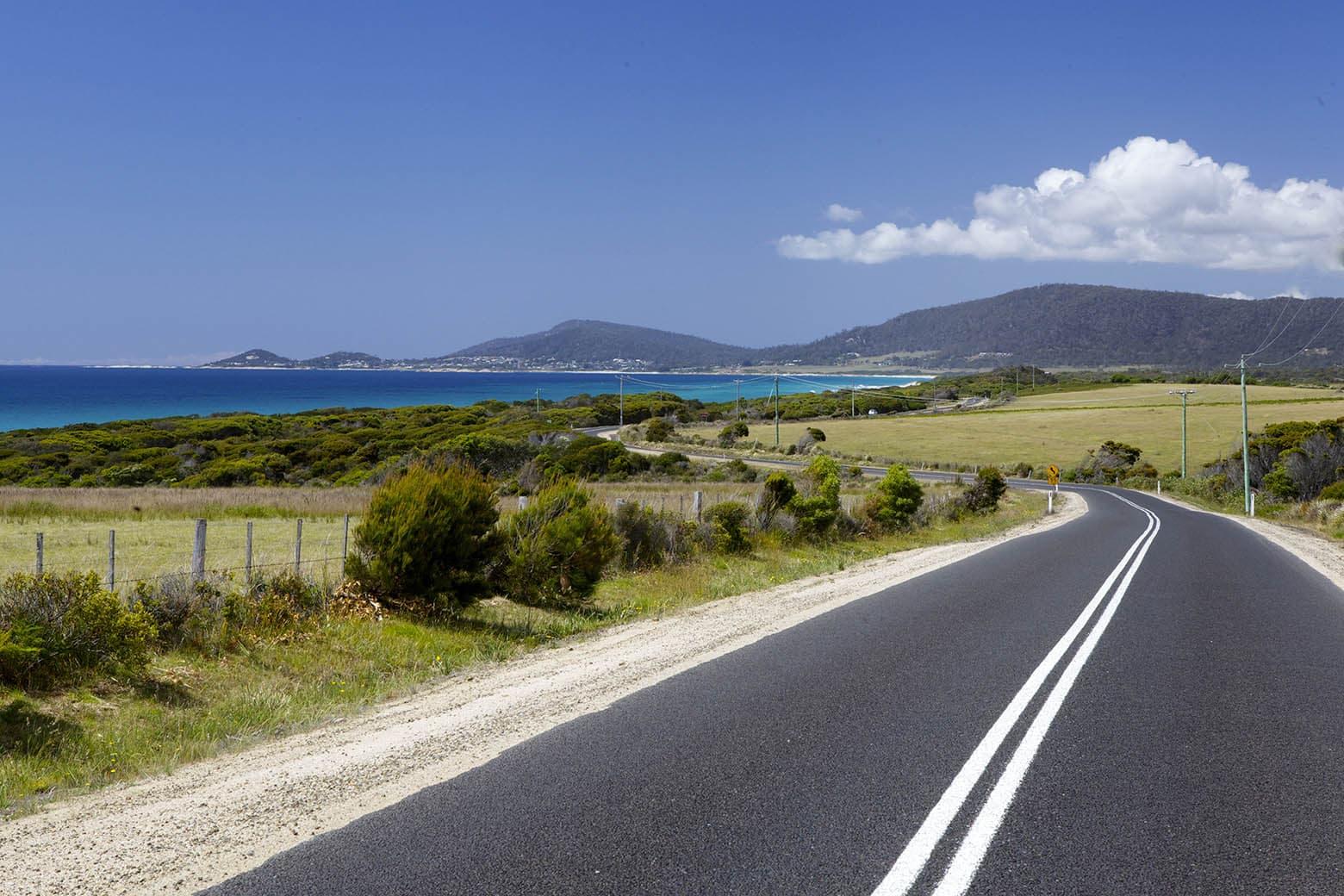 Open roads of the East Coast - Tasmania Road trip