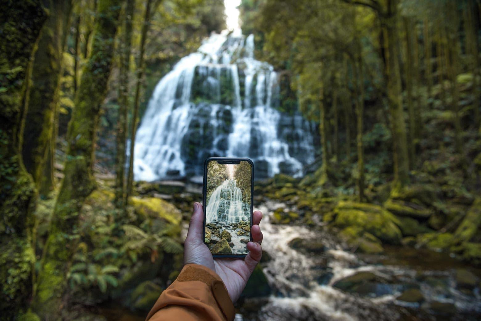 Nelson Falls in the Tassie Rainforest - Tasmania Road Trip