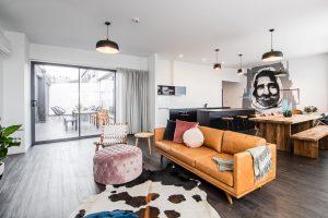 Living area at Change Overnight - Best Launceston accommodation - Tasmania Road Trip