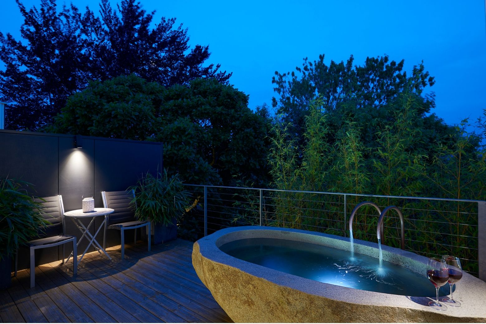Your own secluded outdoor bath - Launceston Accommodation - Tasmania Road Trip