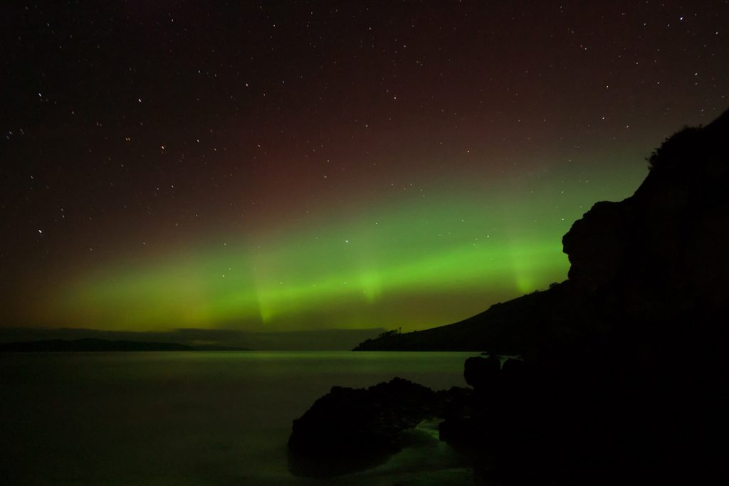 Clifton Beach is where to see the Aurora Australis or Southern Lights in Tasmania