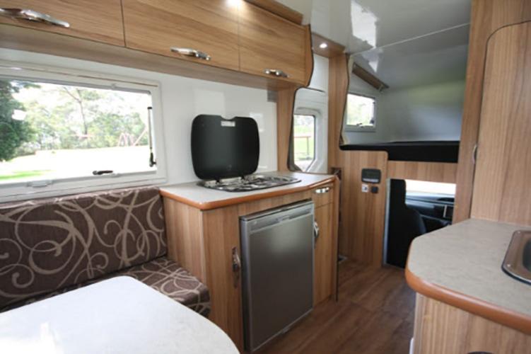 LeisureRent Motorhome - Fridge and Kitchen