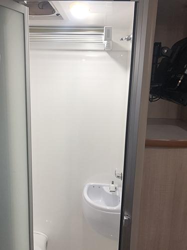 LeisureRent Motorhome - Shower and Basin