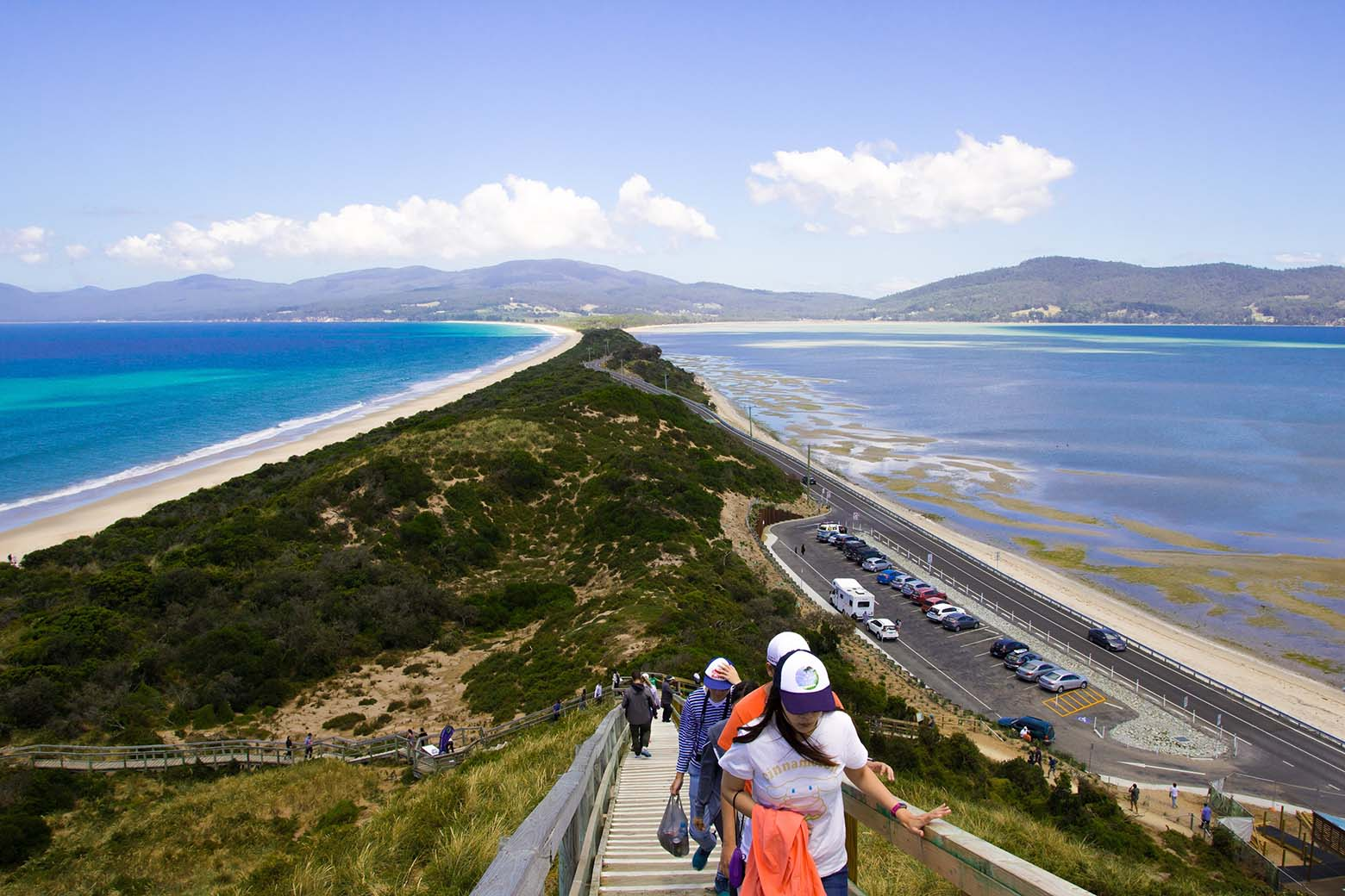See spectacular views from The Neck on Bruny Island Tours from Hobart