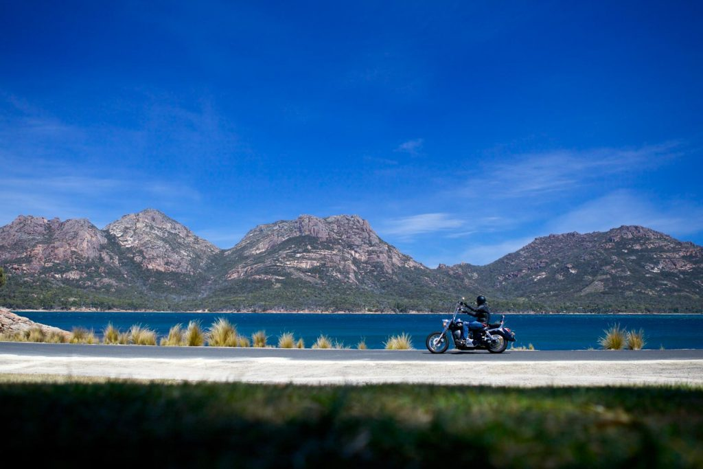 Ride to Freycinet National Park on a motorbike