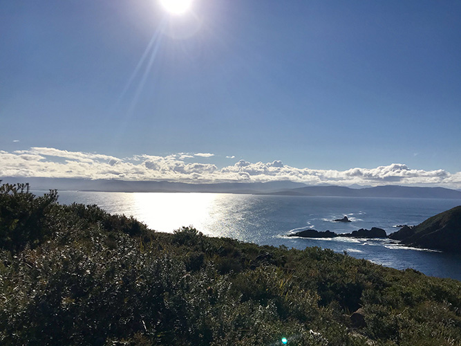 The view from Bruny Island Lighthouse