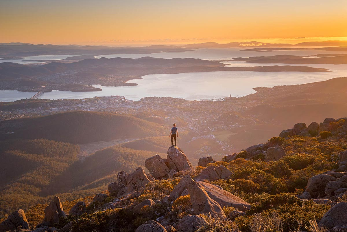Enjoy the best views of Hobart on a Mt Wellington Tour | Photo: Justin Hyde