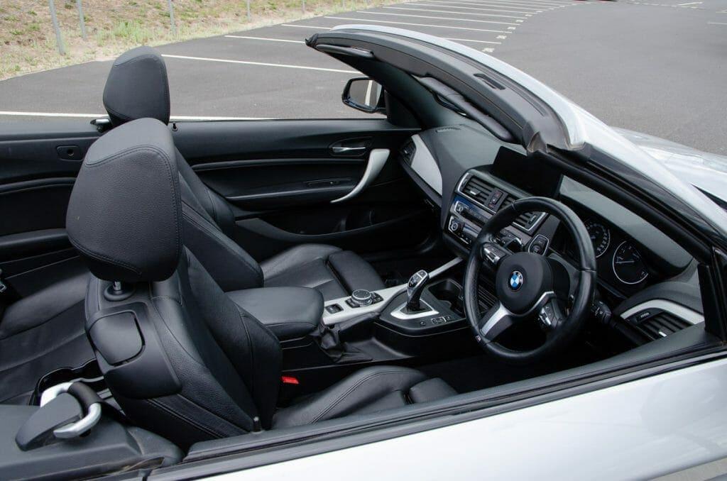 Gorgeous interior on the BMW 220i