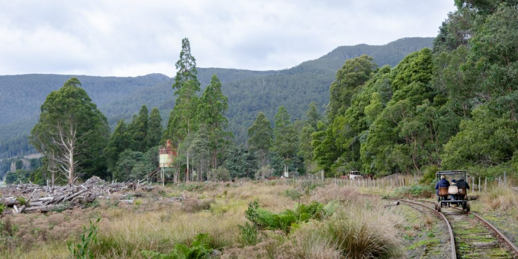 Enjoy the views riding with Railtrack Riders Tasmania